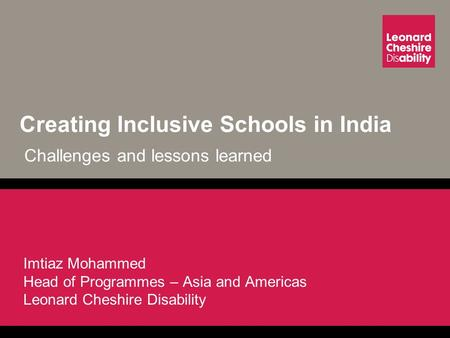 Creating Inclusive Schools in India Challenges and lessons learned