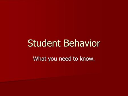 Student Behavior What you need to know.. Code of Conduct Rules that Govern All MSU Students University Operating Policy Covers Student Behavior 500 Students.