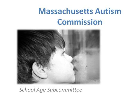 School Age Subcommittee Massachusetts Autism Commission.