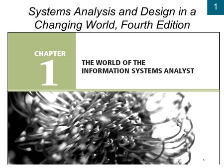 1 Systems Analysis and Design in a Changing World, Fourth Edition.
