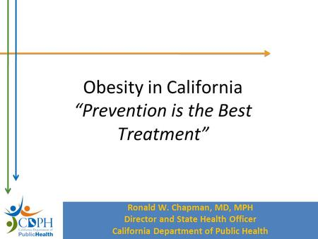 California Department of Public Health Ronald W. Chapman, MD, MPH Director and State Health Officer California Department of Public Health Obesity in California.