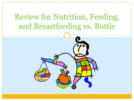 Review for Nutrition, Feeding, and Breastfeeding vs. Bottle.