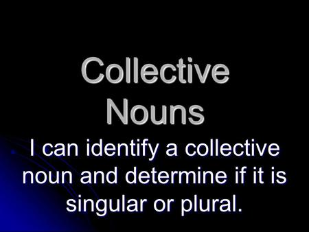 Jeopardy Possessive Nouns Collective Amp Compound Nouns