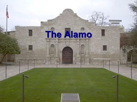 The Alamo. The Alamo was a mission or church The Alamo was a mission or church In the 1700's it was used to teach Native Americans the Catholic religion.