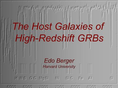 The Host Galaxies of High-Redshift GRBs. 2. The ISM of high-redshift galaxies 3. DLA counterparts & the M-Z relation at z>2 1. GRBs at z<1: Is there a.