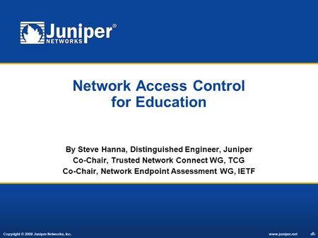 Network Access Control for Education