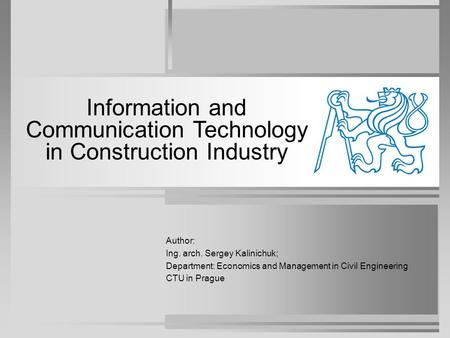 Information and Communication Technology in Construction Industry