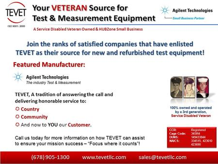 A Service Disabled Veteran Owned & HUBZone Small Business 100% owned and operated by a 3rd generation, Service Disabled Veteran Call us today for more.