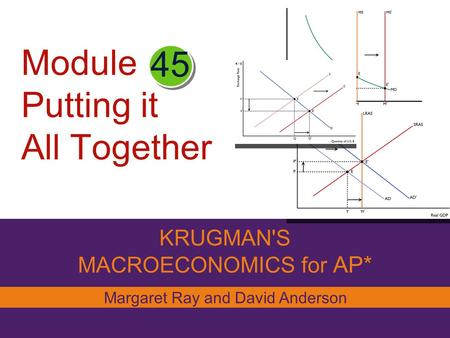 Module Putting it All Together KRUGMAN'S MACROECONOMICS for AP* 45 Margaret Ray and David Anderson.