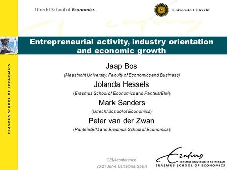 Entrepreneurial activity, industry orientation and economic growth