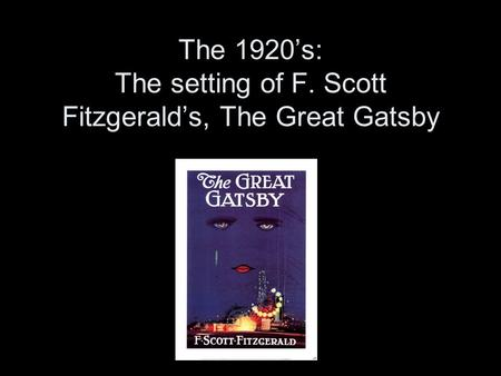 The Importance of Money in The Great Gatsby