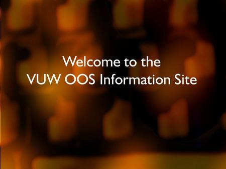 Welcome to the VUW OOS Information Site. What is OOS? When muscles are held tense, or if you tighten them repeatedly, they become tired and sore. You.