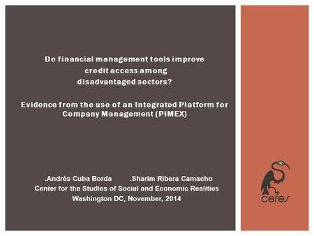 Do financial management tools improve credit access among disadvantaged sectors? Evidence from the use of an Integrated Platform for Company Management.