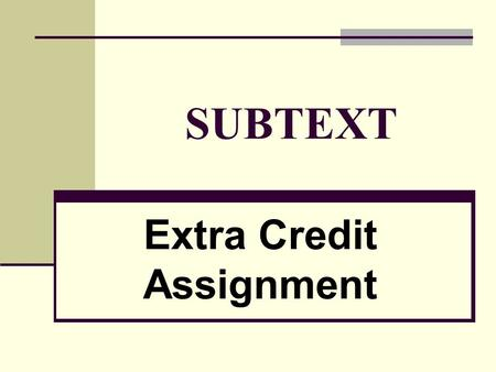 an analysis of extra credit