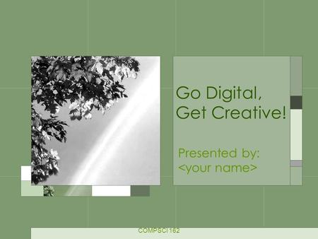 Go Digital, Get Creative! Presented by: COMPSCI 162.