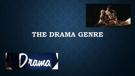 THE DRAMA GENRE. A drama film depends mostly on in-depth development of realistic characters dealing with emotional issues. Dramatic themes put the characters.