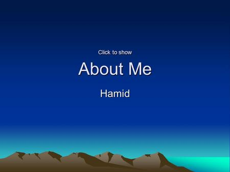 Click to show About Me Hamid. My Picture My Profile Age37 ~ Aquarius Gender Man seeking a Woman Location Scarborough, ON Looking for...Committed Marital.