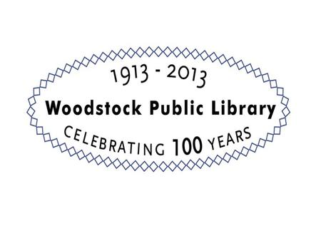 Woodstock Public Library District 2014 Budget Presentation.
