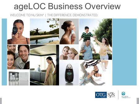 AgeLOC Business Overview. 2 NU SKIN 1.0NU SKIN 2.0 $1.33 billion in annual revenue $550 million in Commissions in 2009 656 million Dollar Circle Members.