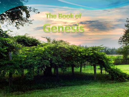Title? Title 'Genesis' comes from Septuagint Literally means 'Generations' Genesis focuses on God and God's people Regaining their trust.
