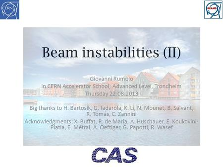 Beam instabilities (II)