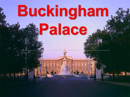 The history of Buckingham Palace began in 1702 when the Duke of Buckingham had it built as his London home. The history of Buckingham Palace began.