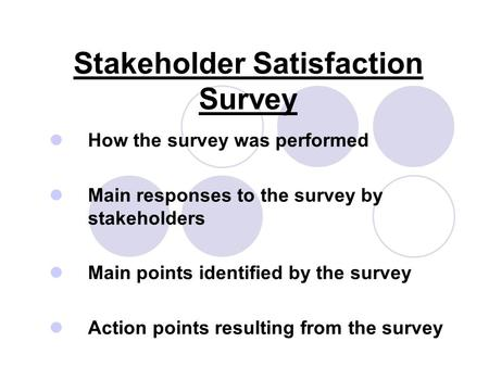 Stakeholder Satisfaction Survey