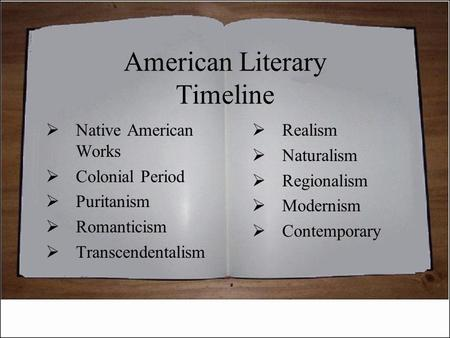 puritan vs native american literature Native american literature ▻ no fixed versions of literary works because they  were all oral ▻ nearly all works exhibit a deep respect for nature celebrate.