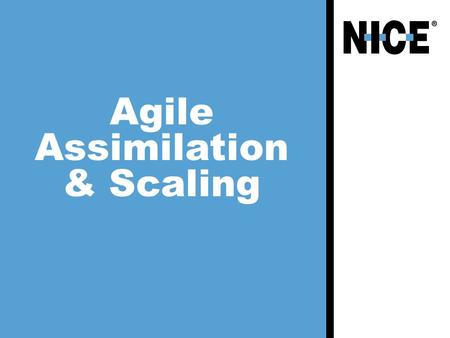 Agile Assimilation & Scaling. 2  About me…  How did we start?  Bottom-up  Task Force  Learning  Pilots  First stage analysis + recommendations.