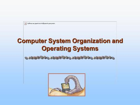Computer System Organization and Operating Systems.