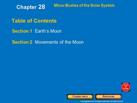 Section 1: Earth's Moon Preview Key Ideas Exploring the ...