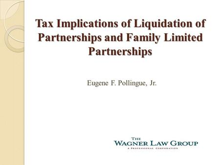 liquidating distribution of partnership interest Partnership distribution: liquidating and liquidating distribution from a liquidating partnership of $45,000 cash and 3 partnership interest with.