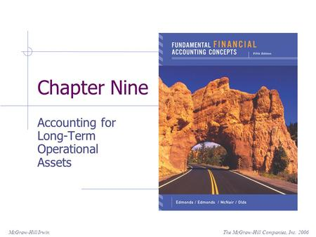 The McGraw-Hill Companies, Inc. 2006McGraw-Hill/Irwin Chapter Nine Accounting for Long-Term Operational Assets.