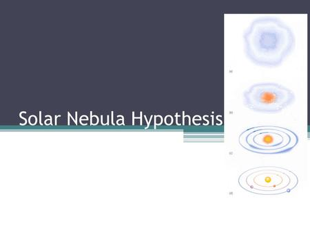 Solar Nebula Hypothesis. Recall… Stars form within a large cloud of dust and gas called a nebula. The core of the nebula collapses inwards due to gravity,