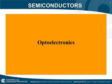 1 SEMICONDUCTORS Optoelectronics. 2 SEMICONDUCTORS Light is a term used to identify electromagnetic radiation which is visible to the human eye. The light.