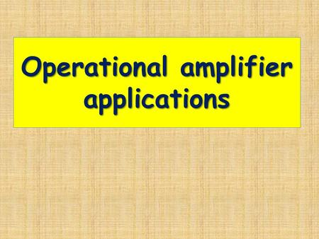 Operational amplifier applications. Summing amplifier.