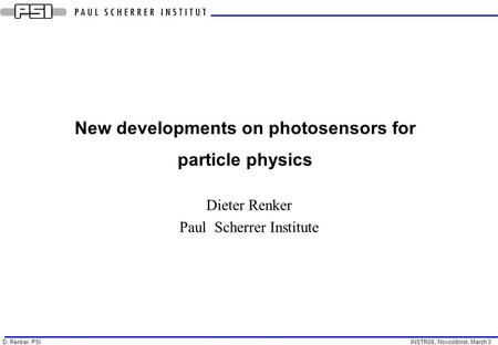 New developments on photosensors for particle physics