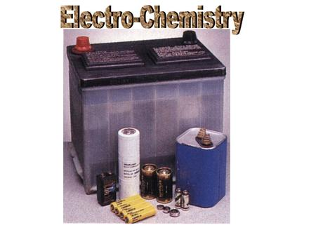 Electrochemistry is the chemistry of reactions which involve electron transfer. In spontaneous reactions electrons are released with energy which can.