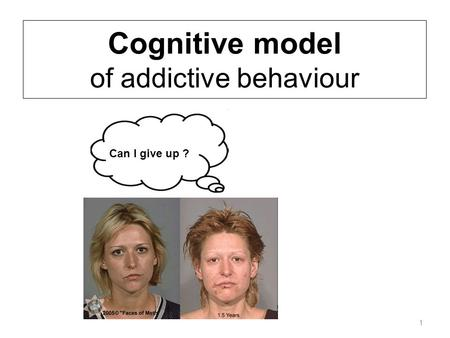 Cognitive model of addictive behaviour 1 Can I give up ?