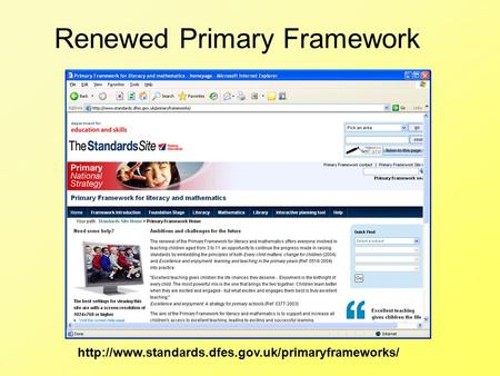 Renewed Primary Framework.
