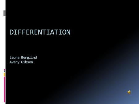 DIFFERENTIATION Laura Berglind Avery Gibson. Definition of Derivative: Lim f(x+h) – f(x) h  0 h Derivative= slope Lim= limit h  0 = as h approaches.