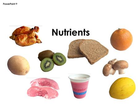 Nutrients PowerPoint 9. Nutrients Food contains different substances that are needed for health. These are nutrients, water and fiber. All food and drink.