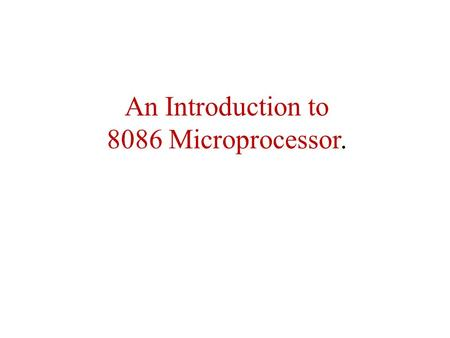 real time applications of microprocessor 8086