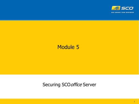 1 Module 5 Securing SCOoffice Server. 2 3 Outlook 21 * 25 80/443* 110/995 143/993 389/636 * Not used by Outlook Express External Firewall Configuration.