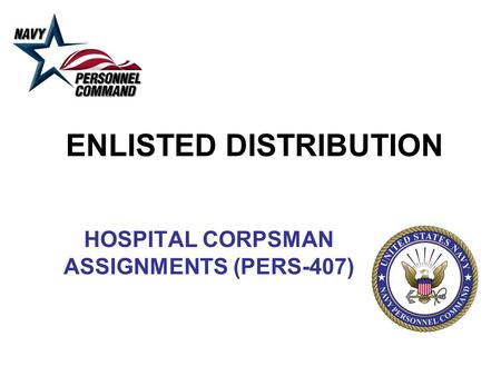 ENLISTED DISTRIBUTION