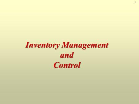 "1 Inventory Management and Control. 2AMAZON.com Jeff Bezos, in 1995, started AMAZON.com as a ""virtual"" retailer – no inventory, no warehouses, no overhead;"