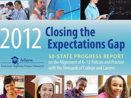 Achieve | 2012 Closing the Expectations Gap1. The College- and Career-Ready Policy Agenda Align high school standards with the demands of college and.