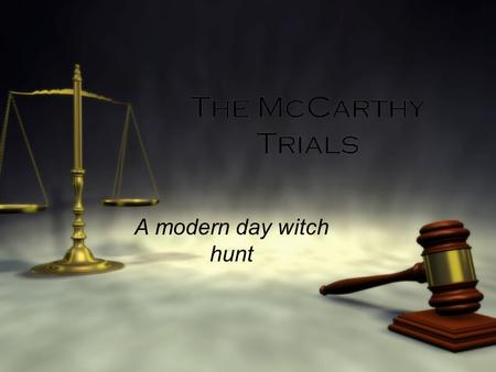 mccarthyism vs witch trials The difference between the salem witch trials and mccarthyism is that the salem witch trials resulted in the condemnation of innocent people who were not witches, while mccarthyism was responsible for the condemnation of many people who were actually affiliated with communism.