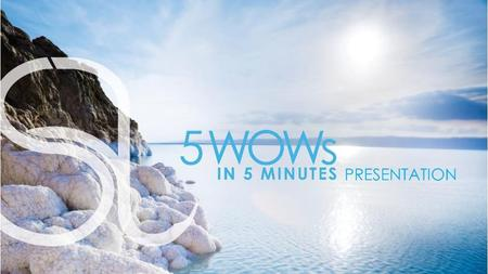5 WOWs in 5 minutes 1 BEFORE AFTER *5 WOWs in 5 Minutes refers to 5 product demonstrations in 5 minutes. Recover results in 15 minutes. Individual results.
