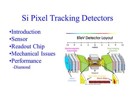 Si Pixel Tracking Detectors Introduction Sensor Readout Chip Mechanical Issues Performance -Diamond.